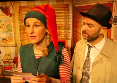 miniature du spectacle l'affaire père Noël avec Gribouille et Allan Watsay